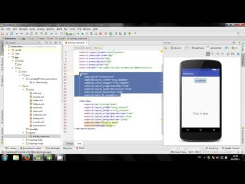 Working with animations in Android Studio