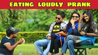 Eating Loudly Prank | আওয়াজ করে খাওয়া | Prank On Cute Girls | Prank In Kolkata | KKF - 2019