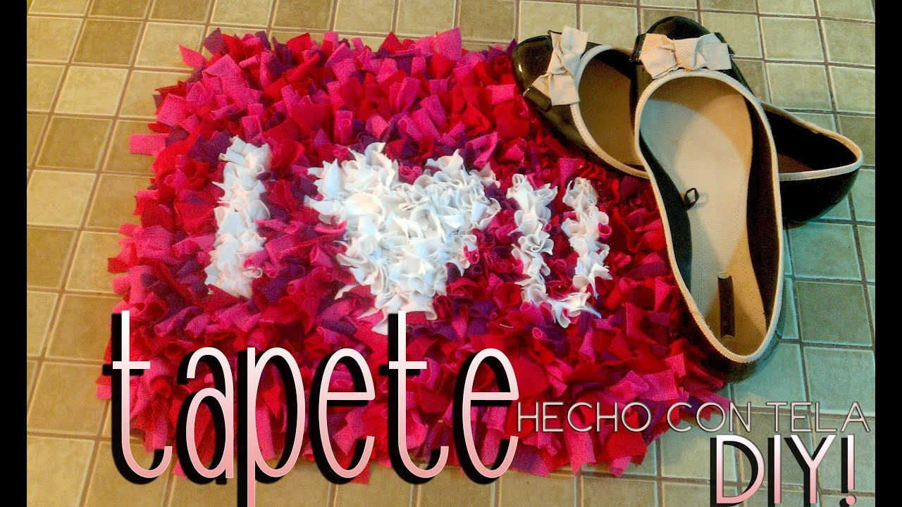 Diy tapete hecho con tela 14 de febrero rug made with - Tapetes de lana ...