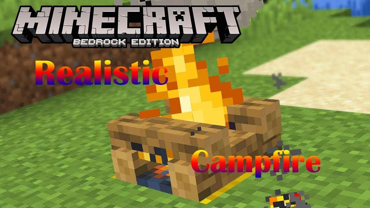 Realistic Campfire Function Pack | Minecraft PE Mods & Addons