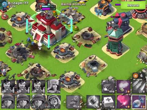 Boom Beach - 7 blue, 4 boosted - RCZM live attack unboosted
