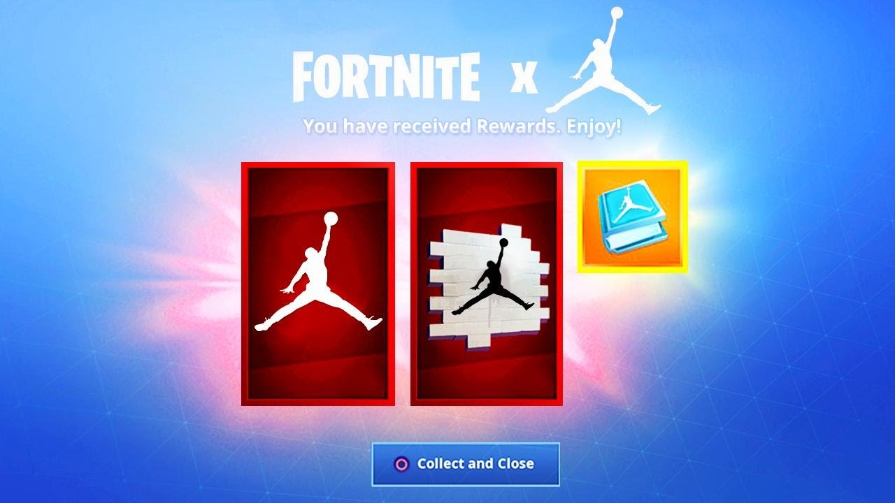 eternamente embudo si  NEW* Fortnite X Jordan EVENT REWARDS! - YouTube