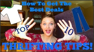 10 THRIFTING TIPS AND TRICKS!