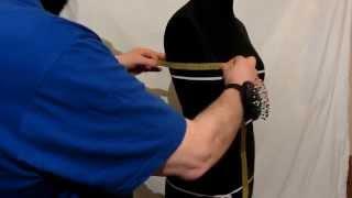 Снятие мерок, для построения женских плечевых изделий (для курток, полушубков).