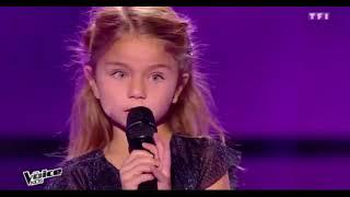 Valentina- Tra Te E Il Mare (Laura Pausini )  the voice kids france 2017 saison 4 blind auditions
