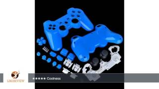 Polished Light Blue PS3 Controller Shell Kit Glossy Custom Repair Mod Set Buttons, Housing, Full