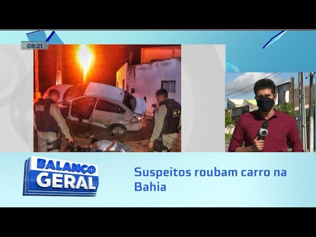 Suspeitos de roubo de carro na Bahia entram em confronto com a polícia de Santana de Ipanema