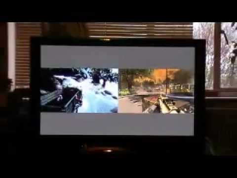 6a600def276 Panasonic TH46PZ81b showing PS3 Xbox360 split screen - YouTube
