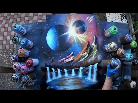 Thumbnail: SPRAY PAINT ART by Skech - Clash of the planets