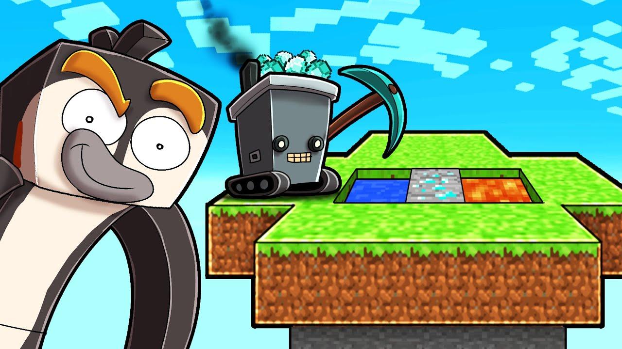 Minecraft Skyblock But Robots Do EVERYTHING!