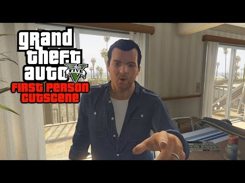Trevor Plans The Merryweather Heist Cutscene But in FIRST PERSON! (GTA 5)