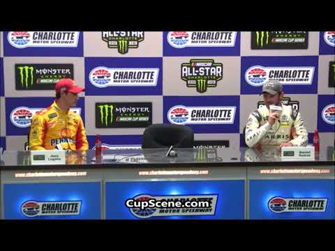 NASCAR All-Star Weekend at Charlotte Motor Speedway: Logano, Suarez post race