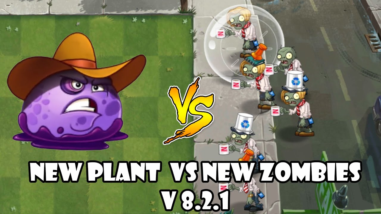 PvZ 2 - V8.2.1 |  New Plants - Puffball (Level Max) Vs New Zombies (Level 10)