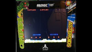 Arcade1up deluxe 12 in 1  Missile Command gameplay footage 137,120