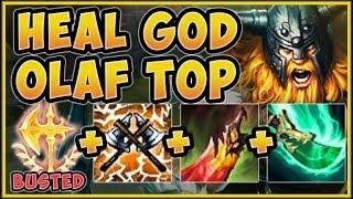 WTF! NEW HEAL GOD OLAF TOP BUILD IS 100% UNFAIR! OLAF SEASON 9 TOP GAMEPLAY! - League of Legends