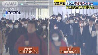 緊急事態宣言から一夜明け・・・都心の通勤客に変化は?(20/04/08)