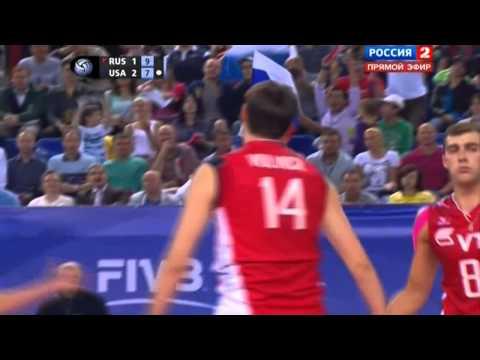 Artem Volvich spike under the net