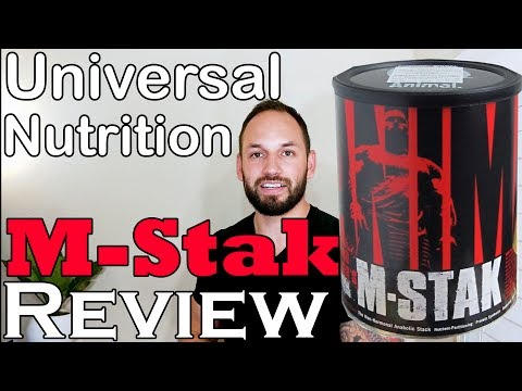 Animal M-Stak Mass Gainer Universal Nutrition 2017 Supplement Review (Fast & Simple)