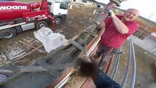 Jak zalać wieniec budynku? Przedstawiony został kompletny proces. Jak wybudować dom? #vlog