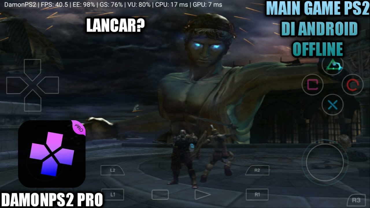Coba Main Game PS2 God Of War 2 Di Android - DamonPS2 Pro ...