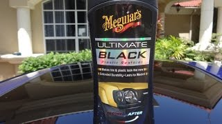 Meguiars Ultimate Black Plastic Restorer Review and Test Results on my 2001 Honda Prelude