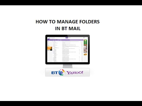 How to manage folders on BT Mail