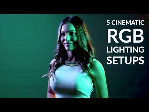 How To Create 5 CINEMATIC RGB Lighting Setups