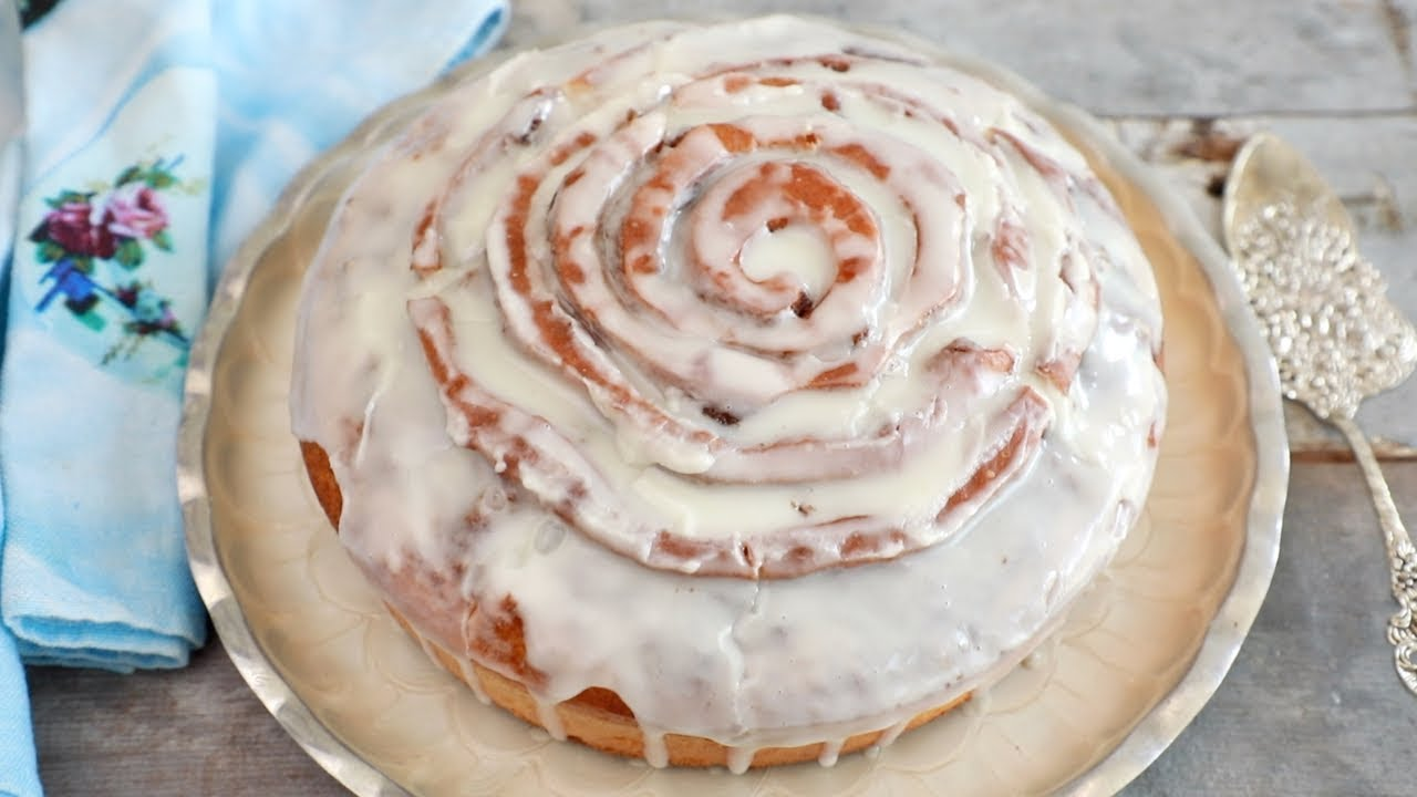 Cinnamon Roll Cake Gemmas Bigger Bolder Baking Ep 198 Youtube