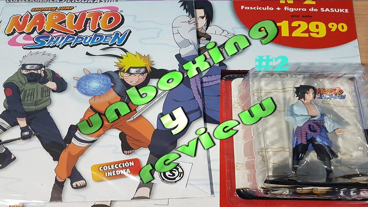 unboxing de naruto shippuden fasciculo 2 sasuke de la