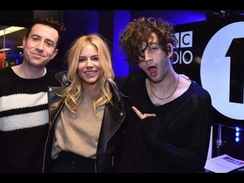 Matty Healy from The 1975 with Sienna Miller  BBCR1's Breakfast , January 2017 part 2