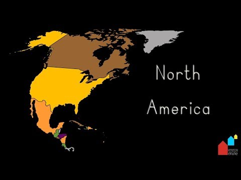 Countries Of North America, Their Capital Cities And Their Flags - Montessori Geography Presentation