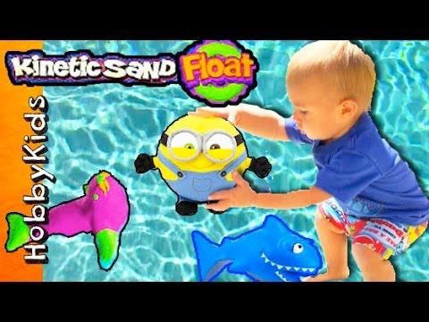 SHARK Kinetic Floating Sand! Pool Toy Fun w/HobbyGator HobbyKidsTV