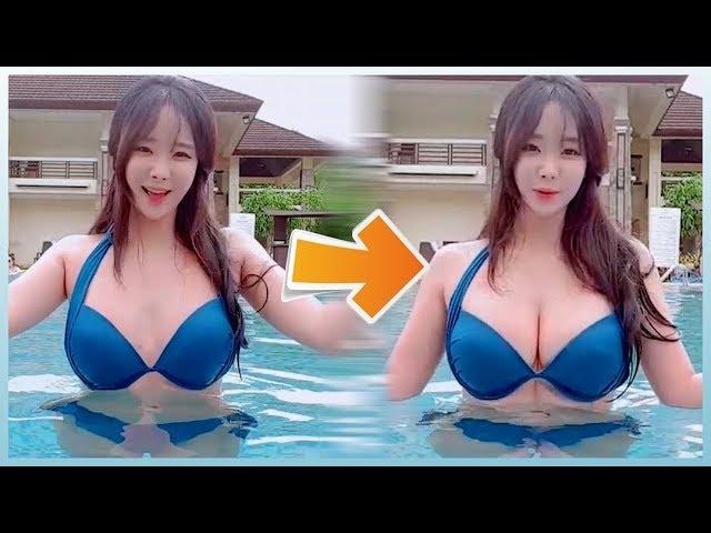 필수템 하나로  D컵으로 바로 변신!  뽕은 이제 안녕~   (feat. 비키니 하나로 4가지 스타일링) #1