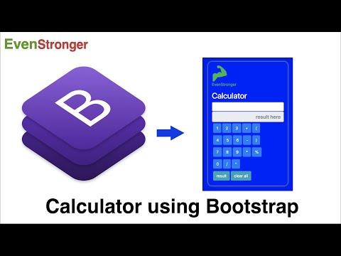 Calculator Web App using Bootstrap | Cool UI/UX