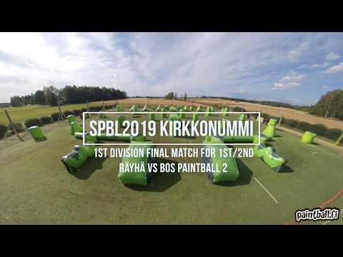 Räyhä vs BOS Paintball 2 - SPBL2019 Kirkkonummi