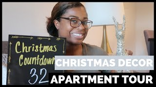 CHRISTMAS DECOR APARTMENT TOUR | HOLIDAY CHEER SERIES DAY FOUR