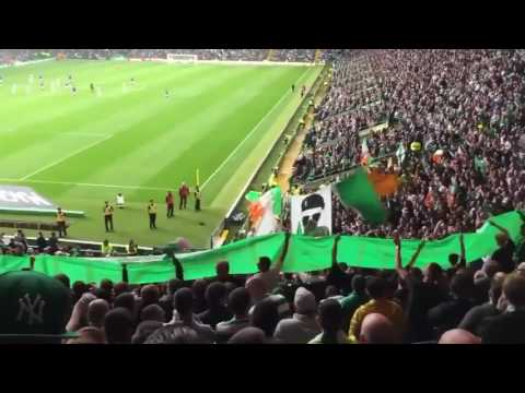 Celtic v Linfield - Sectarian and pro terrorist IRA chanting from the Celtic fans