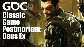 In this 2017 GDC postmortem acclaimed game designer Warren Spector walks through the development of the 2000 hit game Deus Ex and reflects on some of