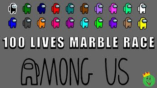 Among Us 100 lives marble race in Algodoo \ Marble Race King