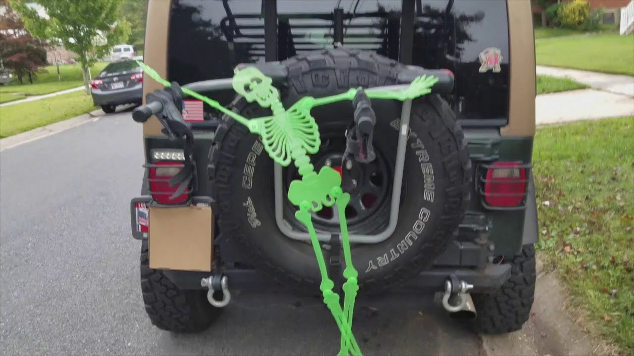 Dollar Store Car Decorations For Halloween Jeep Tj Youtube