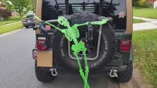 Dollar Store Car Decorations for Halloween (Jeep TJ)