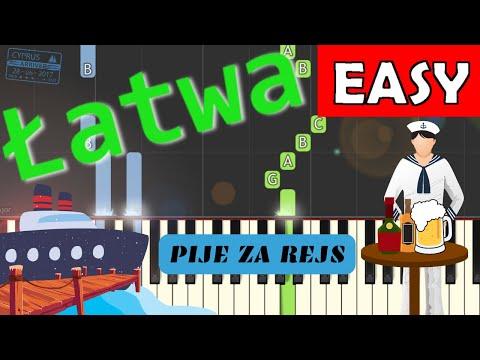 🎹 Piję za rejs (szanty) - Piano Tutorial (łatwa wersja) 🎹