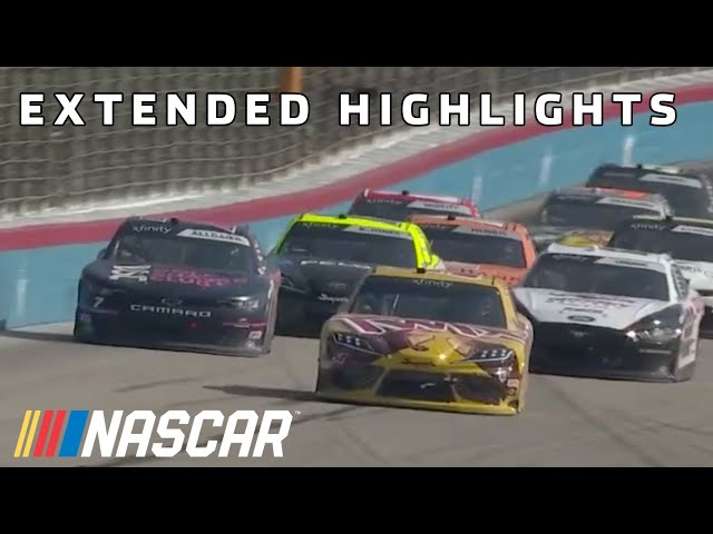 Late restarts decide the Alsco Uniforms 250 from Texas | Xfinity Series Extended Highlights