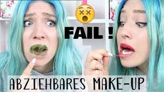 Der TEST : Abziehbares Make-Up .. MEGA FAIL ! | BibisBeautyPalace