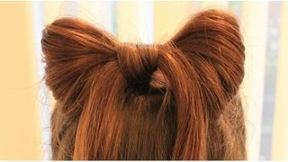 Repeat youtube video ハーフアップで簡単リボンヘア Half up hair Bow