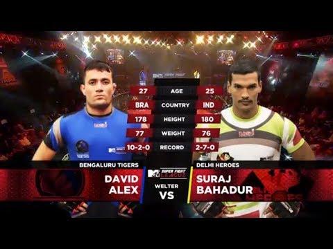 Bengaluru Tigers Vs Delhi Heroes | MTV Super Fight League | David Alex Vs Suraj Bahadur | SFL