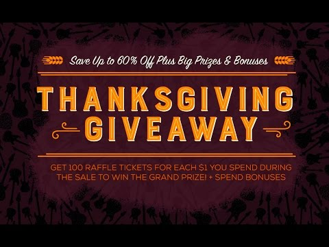 Thanksgiving Giveaway: Save Up to 60% Off Plus Win Prizes!