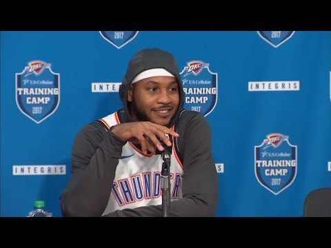 (FULL) Thunder's Carmelo Anthony press conference | 2017 NBA Media Day | ESPN
