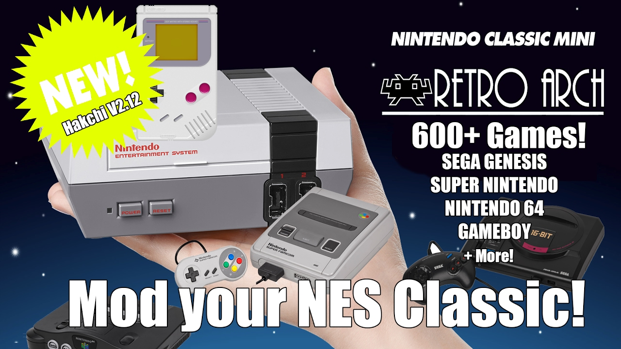 Mod your NES Classic - Retro Arch! SNES, N64 and More! - YouTube