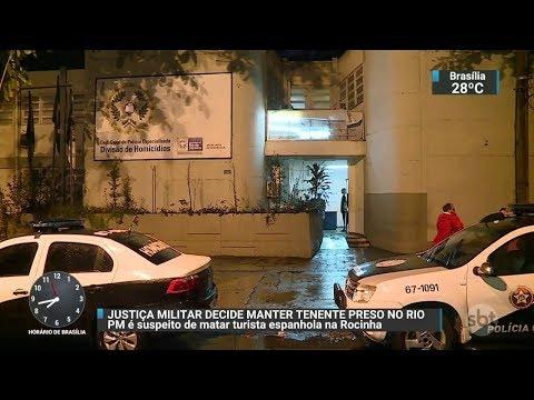 Justiça Militar decide manter preso PM suspeito de matar turista no RJ | SBT Brasil (24/10/17)